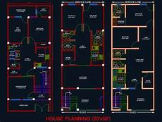 house plan dwg house architectural planning floor layout plan 20 x50 dwg