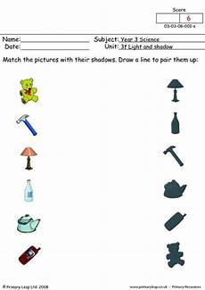 science worksheets light and shadows 12279 primaryleap co uk matching shadows 1 worksheet shadow pictures science primary resources