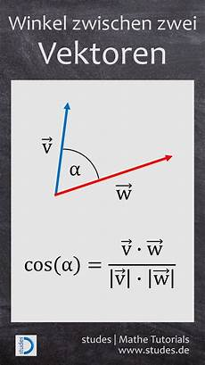 calculate the angle between two vectors the detailed
