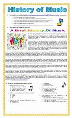 english worksheets the history of music