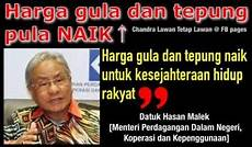 Menteri Kata Harga Gula senang senang singgahlah asal chap ayam jer menteri