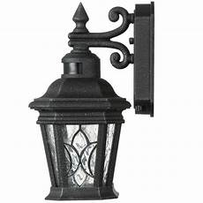 cranbrook collection 1 light outdoor gilded iron motion sensor wall lantern vip outlet