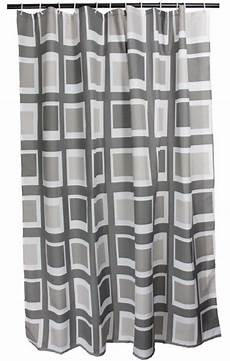 Duschvorhang Grau Weiss Textil Arinosa Window 180 X 200