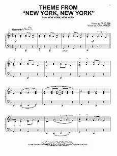 theme from quot new york new york quot sheet music by frank sinatra piano 153787
