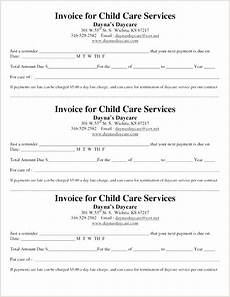 babysitter letter of payment daycare forms childcare