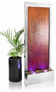 corten and stainless steel weathered water wall with