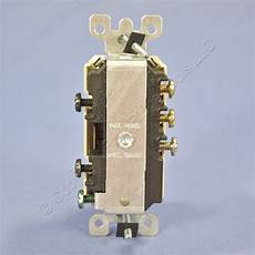 leviton ivory combination 3 way light switch outlet receptacle 15a 5245 i ebay