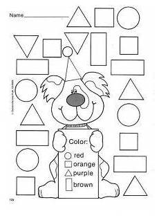 free worksheets colors and shapes 12712 lots of color the shape worksheets our school preschool shapes