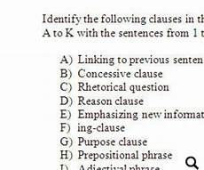 identifying types of clauses upper intermediate worksheet