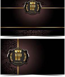 vip name card template luxury vip card template vectors set 02 free