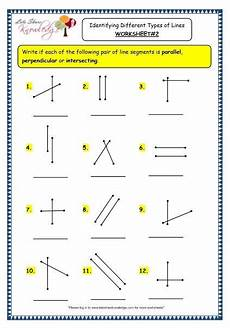 grade 3 maths worksheets 14 2 geometry identifying different types of lines worksheets
