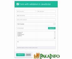 simple javascript form validation exle simple javascript form validation exle pakainfo