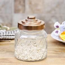 Kitchen Glass Jars by Glass Copper Kitchen Storage Jar With Lid By Dibor