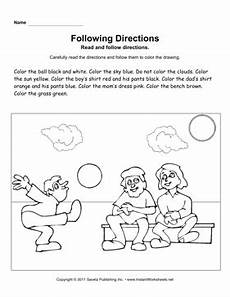 following directions worksheets free printable 11690 following directions
