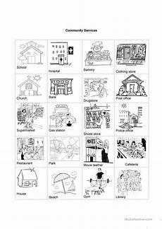 places in my community worksheet community services worksheet free esl printable worksheets made by teachers