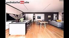 wohnzimmer k 252 che esszimmer in einem offen holzboden