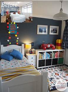 Small Toddler Bedroom Ideas by Room Makeover In Blue And Blue Interior Decor