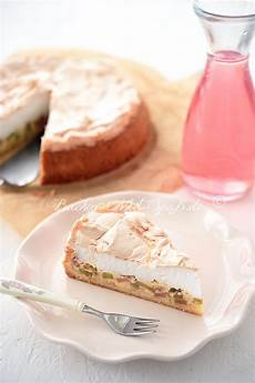 Rhabarberkuchen Mit Pudding Und Baiser Rezept