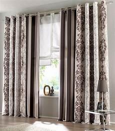 gardinen braun 2 st gardine 140 x 245 creme braun blickdicht store