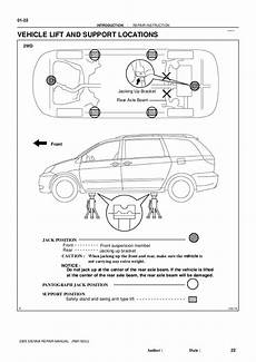 service and repair manuals 2004 toyota sienna parking system 2004 toyota sienna service repair manual