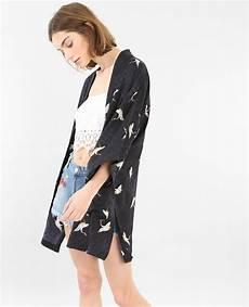 Veste De Kimono Satin 233 E Vert 323145899i0b Pimkie