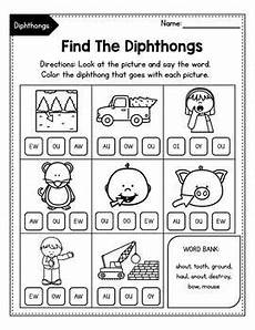 vowel diphthongs oi oy ou ow dipthongs worksheets tpt