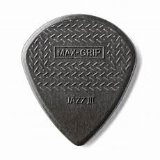 guitar picks with grips jim dunlop max grip jazz iii carbon fiber guitar picks 6 pack