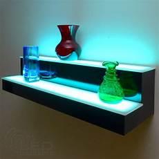 2 tier led floating shelf led lighted floating shelves