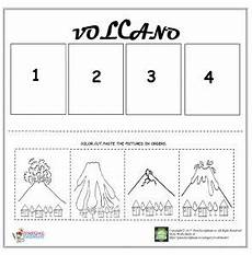 volcano worksheets for kindergarten volcano sequencing worksheet for kids