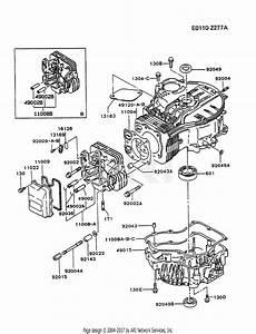 kawasaki fc400v bs01 4 stroke engine fc400v parts diagram for cylinder crankcase