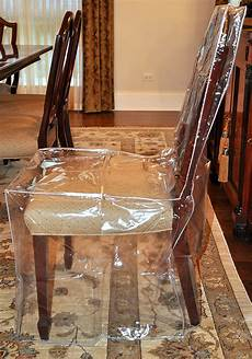 Plastic Dining Room Chair Covers furniture protector dining room chair plastic cover clear