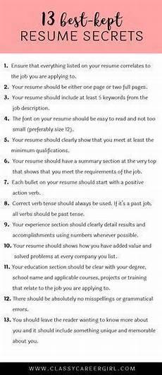 the 13 best kept resume secrets info resume