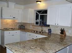 Limestone Backsplash Kitchen Kitchen Projects In 2019 White Kitchen Cabinets