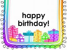 happy birthday card template for word birthday card gifts on white background half fold