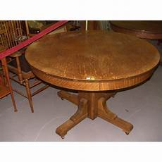 original oak arts and crafts mission dining table ssr