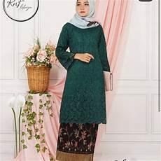 Jilbab Untuk Kebaya Hijau Botol Model Terbaru