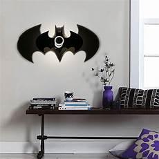 aliexpress com buy amroe indoor modern home decor batman bat babt shadow light wall l e27