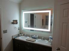 lighted vanity mirrors make up wall mounted 60 quot wide