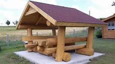 sitzgruppe mit dach blockstammholz sitzgruppe mit dach in heidenrod