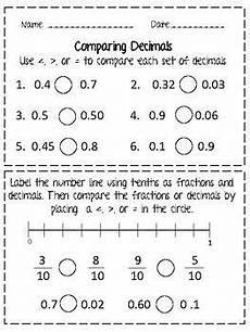 comparing decimals worksheet grade 4 7434 comparing decimals tenths and hundredths worksheet comparing decimals decimals worksheets