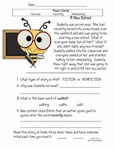 fun in first grade fluency comprehension vocabulary packets education reading