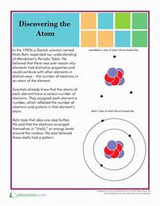 atom structure school science science worksheets