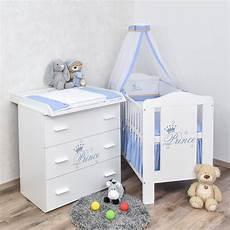 babyzimmer prinz babybett wickelkommode bettw 228 sche set