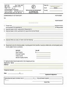 2003 form ky aoc 745 fill online printable fillable