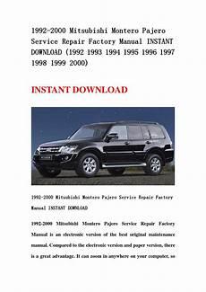 service repair manual free download 2000 mitsubishi montero sport engine control 1992 2000 mitsubishi montero pajero service repair factory manual instant download 1992 1993