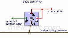 light flash basic negative input positive output relay wiring diagram