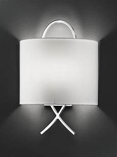 wb986 modern wall light chrome off white shade lighting bug swindon