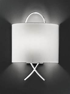 wb986 modern wall light chrome off white shade lighting bug swindon