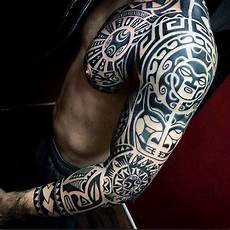 Tribal Arm - 125 tribal tattoos for with meanings tips