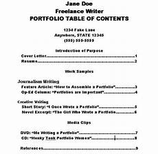 resume portfolio table of contents how to make a portfolio table of contents ehow